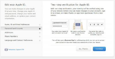 How to set 2-step verification on iDevices
