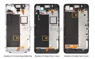 Leaked BlackBerry Z10 Porsche Design Middle Plate