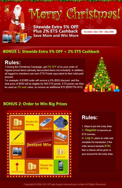 Christmas Bonus Discounts - Save on Christmas Orders