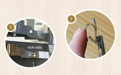 The Way to Distinguish OEM Flex Cable from Copy Ones on iPhone Replacement Screens