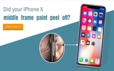 Did your iPhone X middle frame paint peel off?