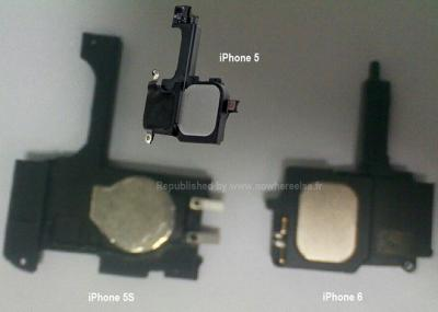 Purported Images to Show Parts for Apple iPhone 5S and iPhone 6