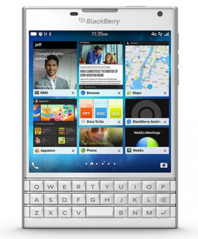 First Look: BlackBerry Passport in White