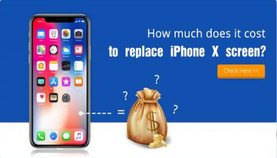How much does it cost to replace iPhone X screen?