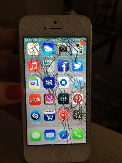 Cost of Repairing a Cracked iPhone 5C or 5S Screen