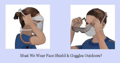 Must We Wear Face Shield and Goggles Outdoors?