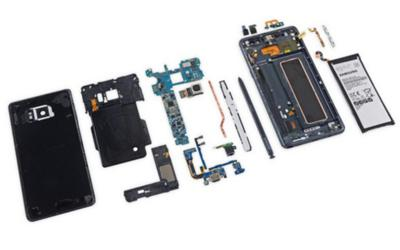 Galaxy Note 7 Teardown for screen, battery, charging port replacement