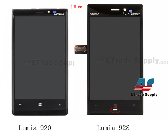 nokia lumia 928 lcd screen and digitizer assembly