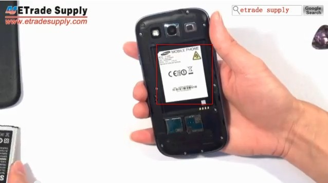 Find Samsung Galaxy S3 Model Code Behind the Battery