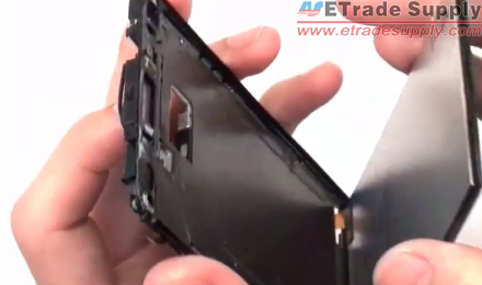 Separate the HTC One LCD Screen Assembly from the front housing