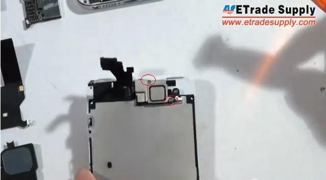 remove 2 screws of ear phone