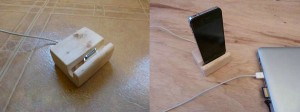 Try This Wooden iPhone Dock