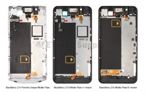 BlackBerry Z10 and Porsche Middle Plate Comparison