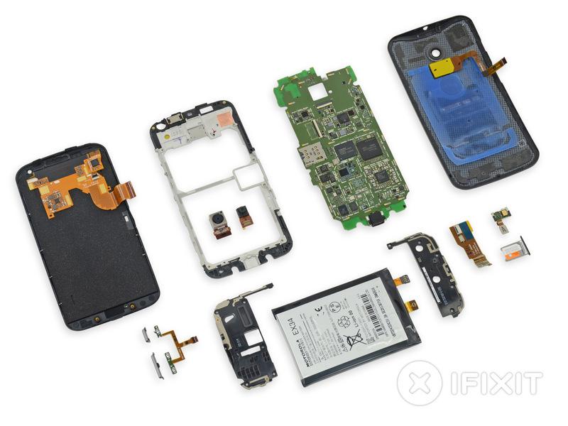 Moto X teardown parts