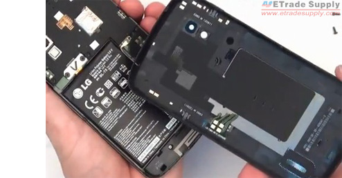 Remove the broken Nexus 4 battery cover