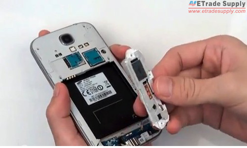 Take out the galaxy s4 loud speaker assembly