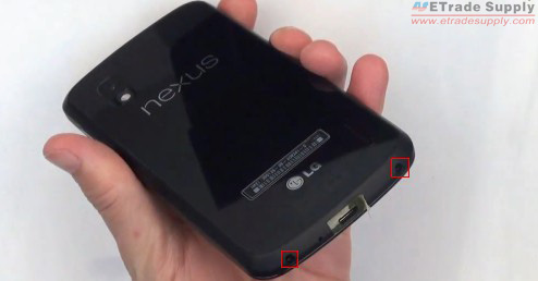 remove the two screws at bottom of the Nexus 4