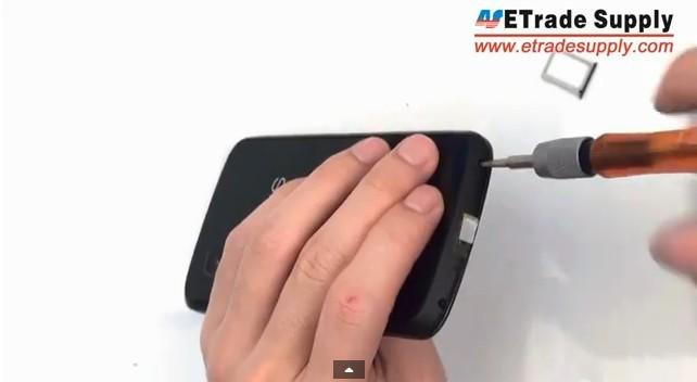 fasten Nexus 4 battery door
