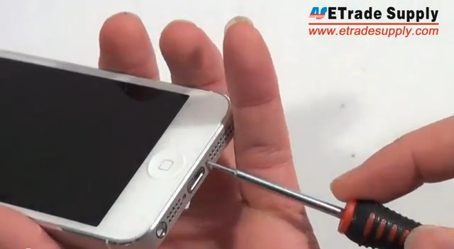 remove 2 screws of iPhone 5