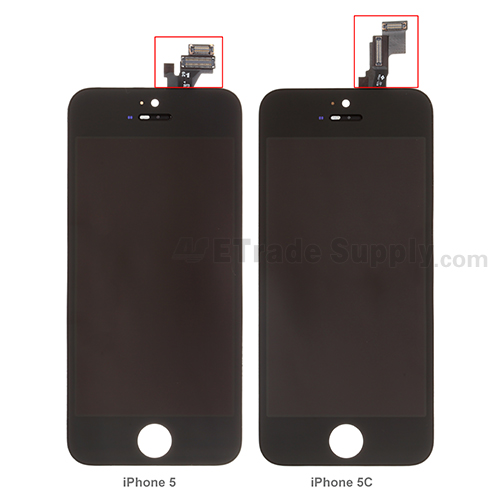 iPhone 5 vs iPhone 5c LCD assembly front side