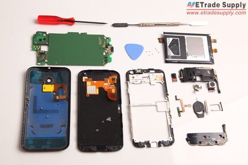 the Moto X is completely disassembled