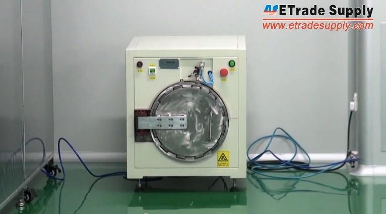 machine removing bubble