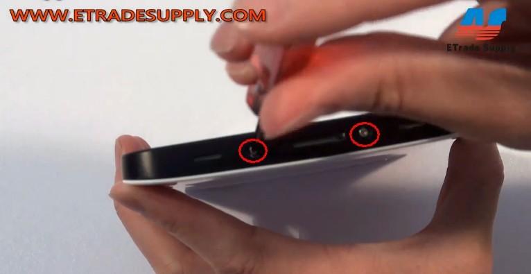 remove Galaxy P1000 screws
