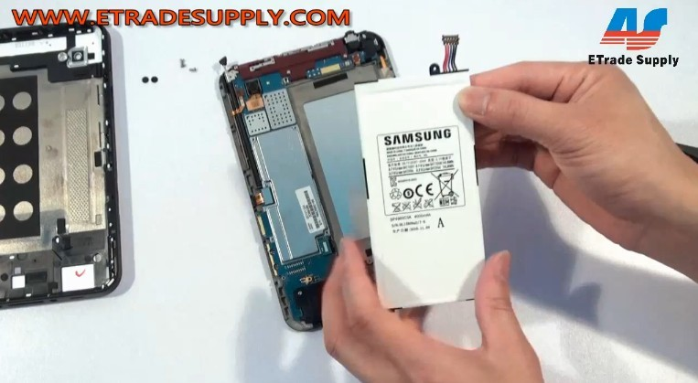 remove Galaxy Tab P1000 battery