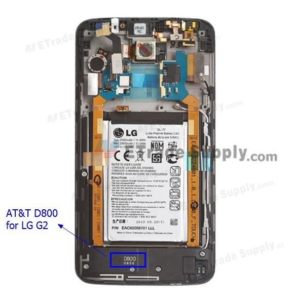 AT&T LG G2 D800 model