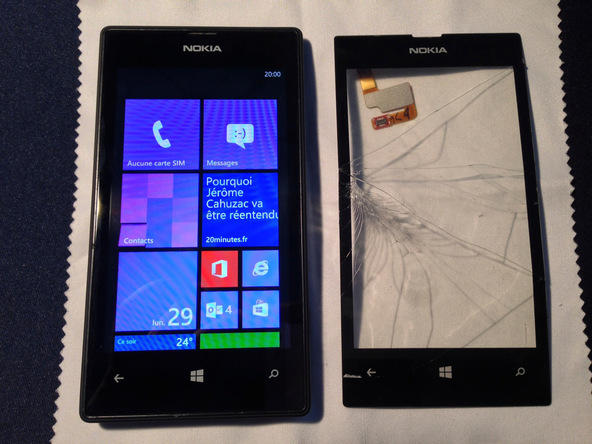 How To Repair Cracked Nokia Lumia 520 Screen