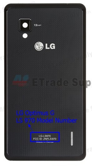 Sprint LG Optimus G LS970 Model Number