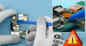Open the AV connector assembly