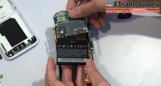 remove the motherboard with battery