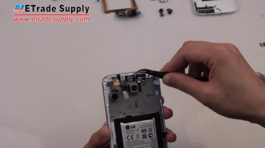 Peel the LG G2 ear speaker off