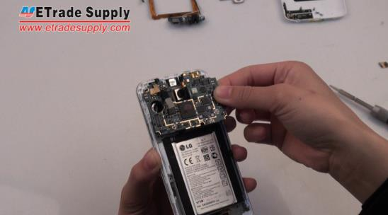 Pulling the LG G2 logic board