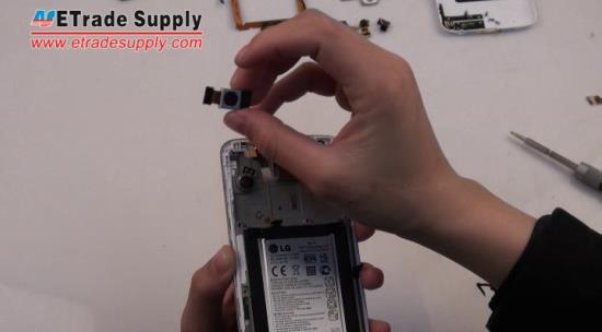 Remove the LG G2 rear facing camera