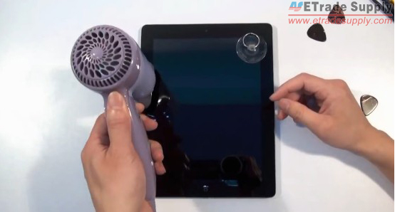 Use heat drier to loosen the adhesive under the screen