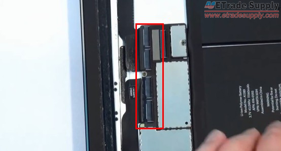 Disconnect  the digitizer connectors