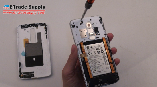 Install LG G2 rear housing