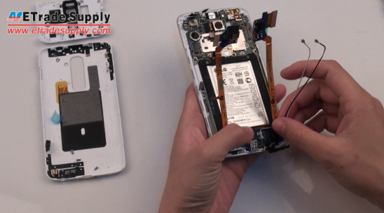 Install the LG G2 charging port flex cable ribbon
