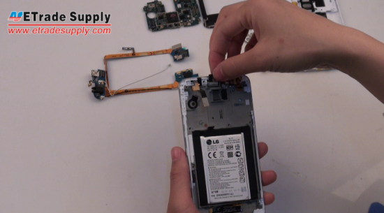 Install the LG G2 ear speaker
