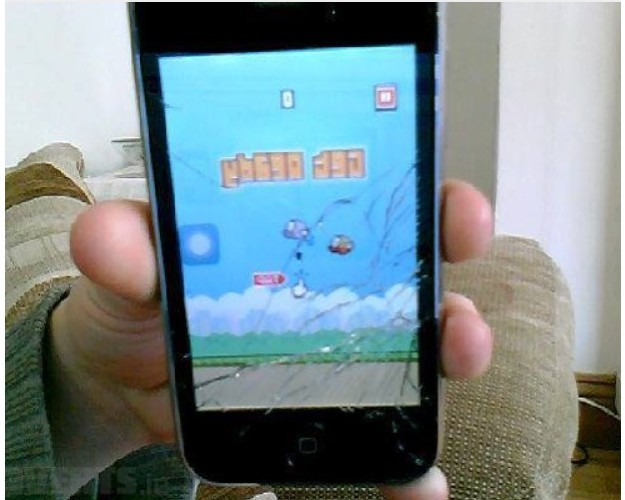 flappy bird crack screen
