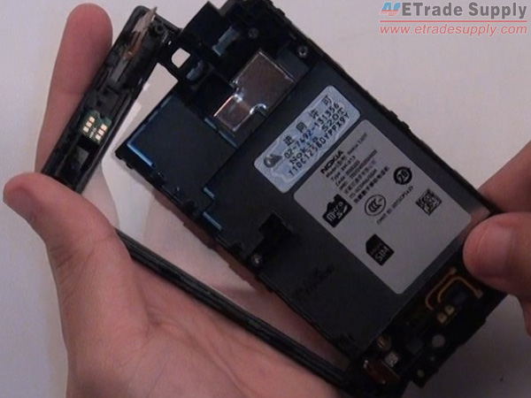 Remove the LCD display with metal frame from the digitizer