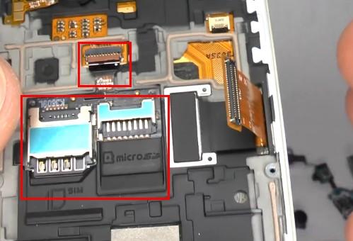 Disconnect the flex cable
