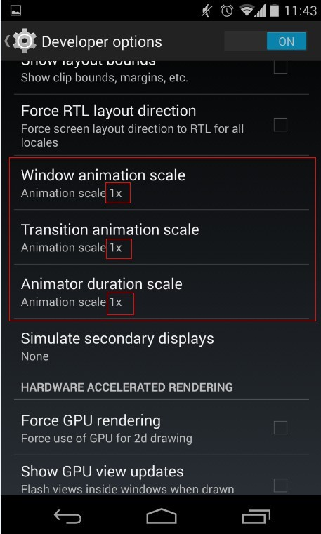 Android transition animation