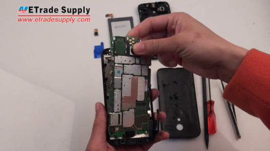 Assemble the Moto G LCD screen assembly and the logic board