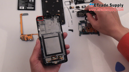 Nexus 5 screen replacement part with gasket