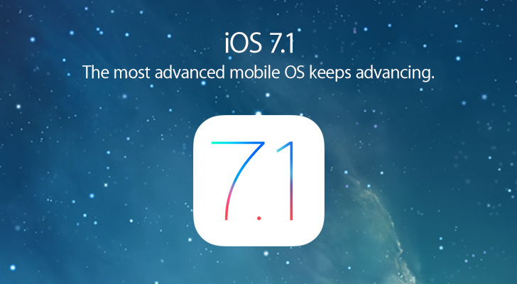 ios 7.1 the lateast iOS version