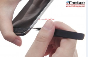 Take out the SIM Card Tray and SD Card Tray