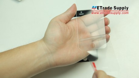 Take the 5S protector and peel the protective layer off